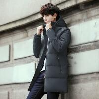 男士羽绒服2017新款韩版潮流帅气冬季中长款加厚青年外套中年男装