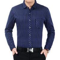 新款男士翻领格子男装加绒男式衬衫 冬季新品男衬衫