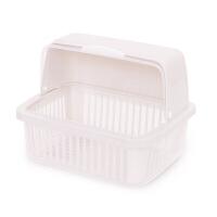 放碗架子装碗筷收纳箱沥水架带盖塑料家用碗盒有盖碗柜厨房置物架 灰白色