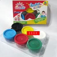 美邦 6色手指画颜料 可水洗儿童颜料 儿童手印颜料