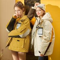 [1件2.5折�r214元]女冬�b新款�n版��松工�b棉衣ins港�L原宿中�L款冬季外套