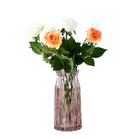 透明水晶玻璃大号 创意家居摆件水培富贵竹装饰品玫瑰插花器