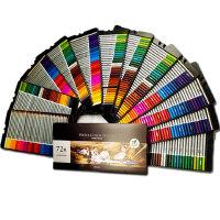 得力可水溶性彩铅笔48手绘儿童画笔套装学生用填36色涂鸦彩铅72色