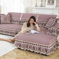 四季沙发垫欧式亚麻布艺滑简约现代通用实木包沙发套罩巾J