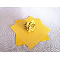 520�Y物20*20厘米珠光手揉�折酒杯玫瑰花折�材料手工玫瑰花束情人� 20色200�� 手揉�
