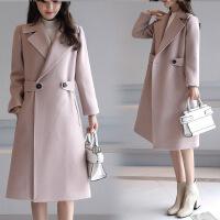 毛呢外套女中长款韩版秋冬新款甜美呢子显瘦百搭韩范妮子大衣