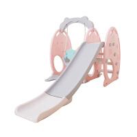 滑梯儿童室内滑滑梯宝宝家用萌猴圆形加长塑料三合一多功能秋千幼儿园组合 环保塑料滑梯秋千组合玩