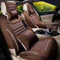 汽车坐垫四季通用全包围夏季亚麻座垫大迈X5传祺GS4奇瑞艾瑞泽7瑞虎5智跑专用座套
