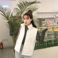 韩观秋冬女装2017新款时尚韩版短款马甲背心学生无袖棉衣马夹外套