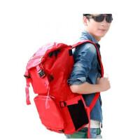休闲背包男旅行背包大容量gx双肩包书包双肩旅行包男包 红色