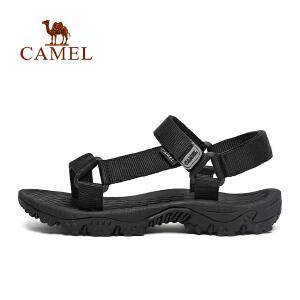 camel骆驼户外凉鞋 春夏情侣款织带耐磨耐刮舒适沙滩凉鞋