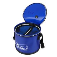 新品钓鱼桶鱼护桶圆形活鱼箱打水桶折叠鱼箱加厚EVA水箱渔具
