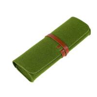 笔袋韩国可爱创意大容量简约日本学生毛毡铅笔盒文具盒