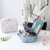便携化妆包小号简约大容量多功能化妆袋随身旅行洗漱品收纳 18*24*9cm