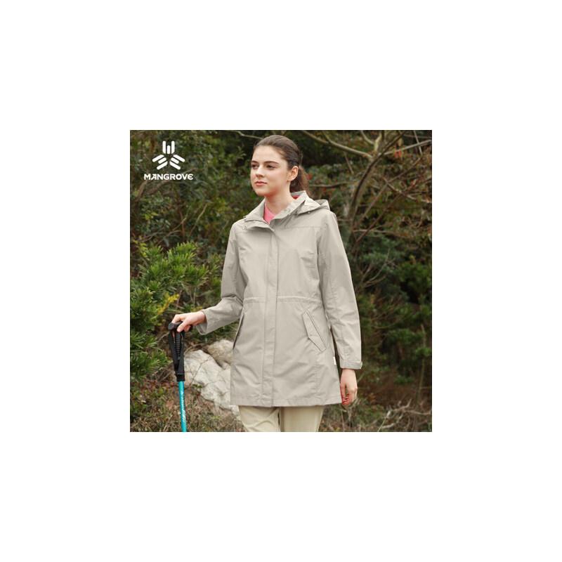 单层冲锋衣女防水透气中长款外套薄款女冲锋衣登山服女 品质保证 售后无忧