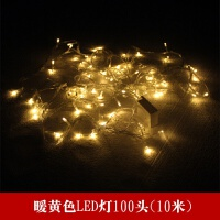 圣诞节彩灯串灯装饰灯节日灯圣诞树装饰灯100头彩灯米灯