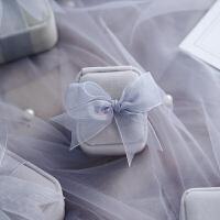手链戒指盒子绒布 项链耳钉森系求结婚少女珠宝包装收纳