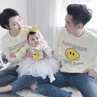 婴儿卫衣亲子装春装2018新款潮全家装母女装夏季母子装春秋外套装