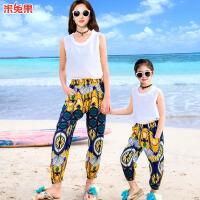 亲子装夏季母女连衣裙家庭套装沙滩海边度假装2018