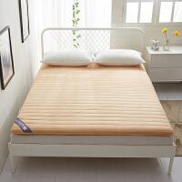 全棉床垫加厚双人纯棉床褥子单人学生宿舍垫被1.5m/1.8米可折叠