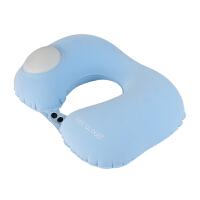 按压自动充气u型枕旅行充气枕头便携颈椎飞机颈枕护脖子护颈U型枕