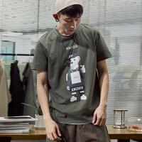 [1件2.5折价45元]唐狮短袖t恤男装夏装新款潮流上衣半袖圆领韩版学生港风