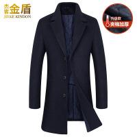 毛呢外套男款风衣服青年韩国中长款尼子中年男装男士羊毛呢子大衣 加厚