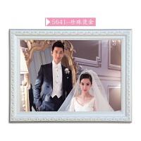 欧式实木相框16/20/24/30/36寸婚纱照相框挂墙加冲印照片画框定做