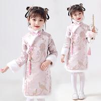 女童唐装冬装旗袍棉衣女宝宝中国风汉服拜年服旗袍古装