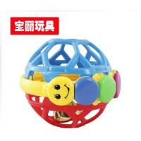 宝丽响铃力球 婴儿叮当铃铛球手抓球滚滚球洞洞球 婴儿摇铃玩具