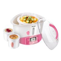 20180713174400228Tonze/天际 GSD-W122B电炖锅白陶瓷家用煲汤一锅三胆智能隔水炖盅 粉红色