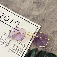 创意时尚新款韩版百搭墨镜太阳镜圆脸个性瘦脸网红同款太阳眼镜潮男女