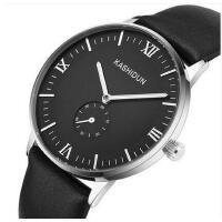 简洁刻度大表盘百搭男表商务皮带夜光休闲腕表全自动机械表钢带防水手表