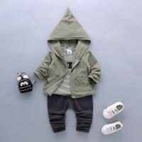 韩版童装春款男童套装中小童儿童卫衣三件套