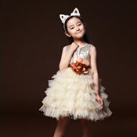 儿童公主裙蓬蓬裙 女花童礼服 主持人礼服女童 纱裙