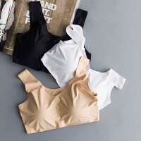 2018新款原单日本牛奶丝抹胸小背心冰丝女按摩带胸垫运动居家文胸内衣