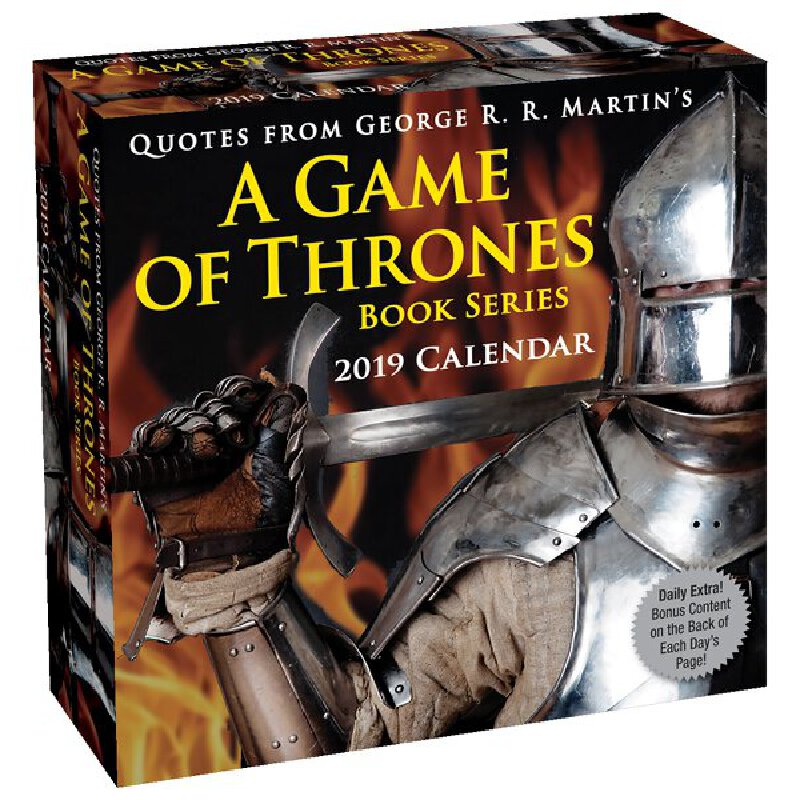 【现货】英文原版 权力的游戏书摘 2019年日历 每天一页 冰与火之歌 Quotes from George R. R. Martin's Game of Thrones 2019 Calendar 国营进口!品质保证!