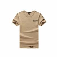 军迷户外服装夏季男短袖紧身T恤 特种兵体能作训服迷彩服军装 X