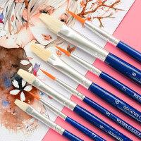 得力水粉笔排笔水彩画笔刷子套装初学者颜料美术专用专业排刷儿童画刷学生用美术生画画用的小刷子色粉丙烯画