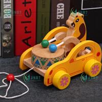 宝宝拖拉学步玩具车幼儿园1-3岁儿童牵引手拉绳拉线早教玩具