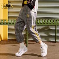 【3件2折:67元】小虎宝儿儿童短裤薄款运动2021年新款男童七分裤中大童潮牌