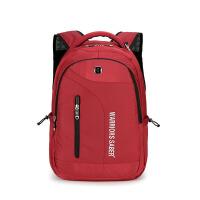 新款潮男潮女双肩包男女电脑包商务防水学生书包旅行包 15寸