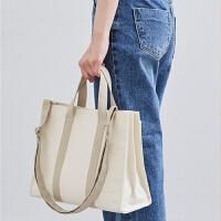 原创女包韩版商务公文包帆布单肩手提包chic时尚学生书包文件包潮