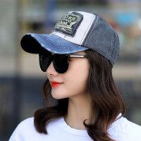 户外帽子女韩版潮鸭舌帽遮阳帽户外运动帽学生休闲帽牛仔棒球帽