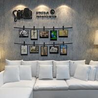 创意个性照片墙贴纸亚克力3d立体相框墙贴客厅沙发背景墙装饰贴画 大