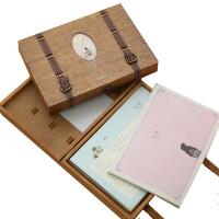 清新唯美素语木盒装同学录 韩版创意复古创意活页毕业留言纪念册