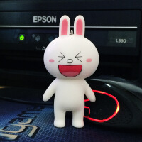 韩国卡通可爱汽车钥匙扣链圈布朗熊可妮兔子铃铛挂件创意女生礼物