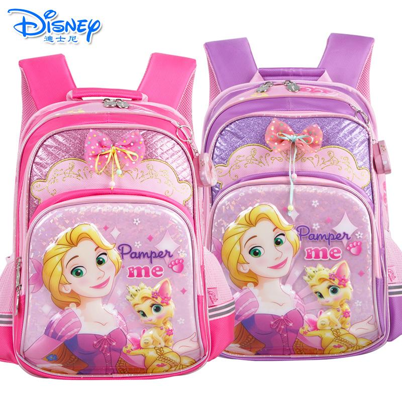 迪士尼白雪公主女童书包小学生1-4年级双肩卡通减负书包PB0376