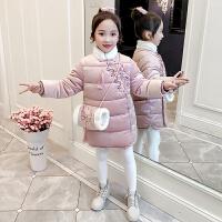 女童汉服宝宝拜年服中国风外套中长款棉衣儿童唐装旗袍新年装