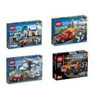 LEGO乐高 城市系列City/机械组和创智电脑系列 移动指挥中心/高速追捕/修路工程车/集装箱工程车